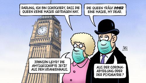 Coronavirus - Boris Johnson im Krankenhaus
