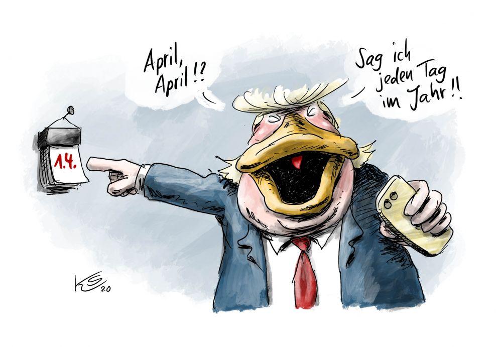 Donald Trump hat jeden Tag 1. April
