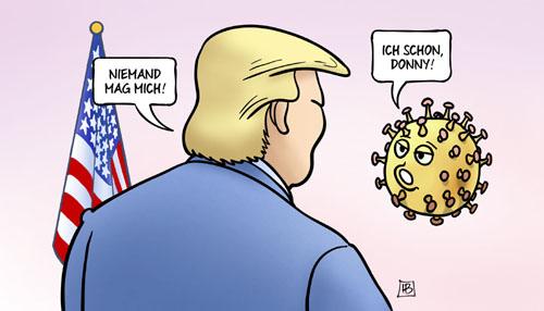 Niemand mag Donald Trump - ausser das Coronavirus