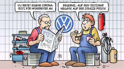 Wie glaubwürdig sind die VW-Corona-Tests? #diesel