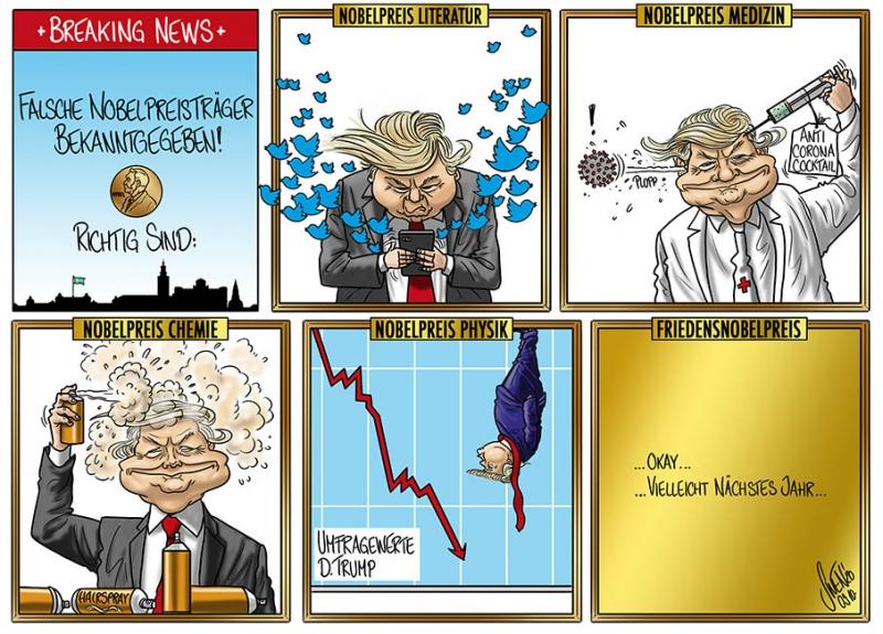 Donald Trump ist Träger diverser Nobelpreise