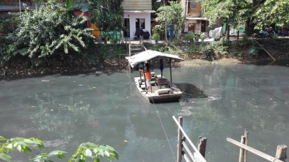 Ferry set up and run by local residents, Tongkol and Lodan kampungs