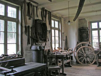 Stellmacherei von innen - Foto: Museumsdorf Hösseringen