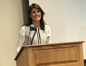 UN Ambassador Nikki Haley