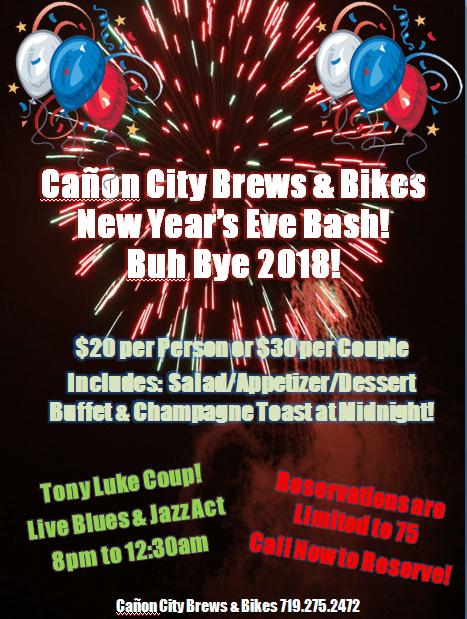 New Year's Eve Roaring Twenties Bash @ Cañon City Brews & Bikes