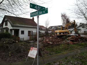 house torn down in Fremont