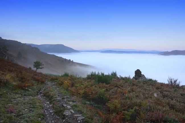les vallées cévenoles sous la brume