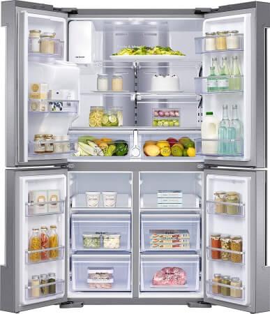 Samsung AKG RF56N9740SR_EF - geräumiger French Door Kühlschrank mit Festwasseranschluss
