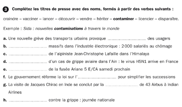 French tutor help for nomalisation in French - exercise