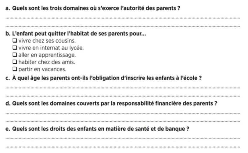 Practice DELF A2 - Parents Enfants