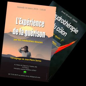 creation et impression d'affichette