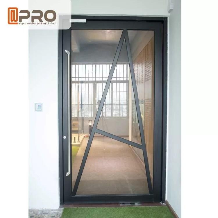 l entree principale de pivot de verre trempe verre en verre de pivot de porte de pivot d entree de portes de porte en verre contemporaine en aluminium de pivot font