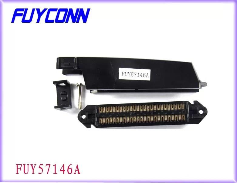 50 Pin Tyco Sertissant Par Replis Le Type Connecteur Rj21