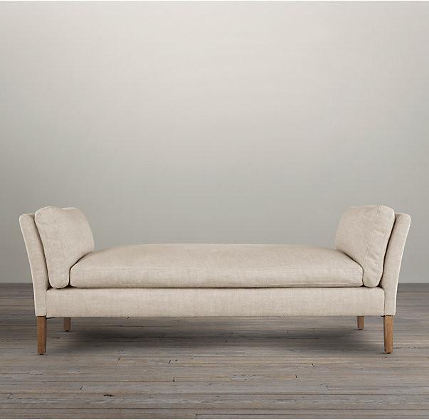 banc de selles d ottoman de cuir blanc de rectangle tissu grand ottoman pour la famille