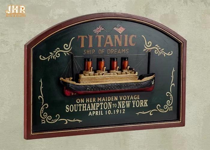 signe en bois de bar de mur de decor de mur de plaques de resine d antiquite en bois titanique commemorative de bateau de croisiere