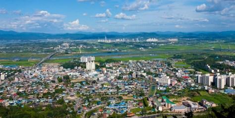 Jeolla .La région de Naju doit sa prospérité à son ensoleillement et au fleuve Yeongsangang qui traverse la ville.