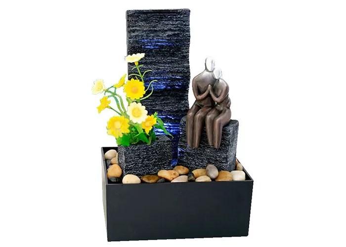 fontaine de table a piles d aventure amoureuse fontaine d eau de bureau 10 pouces