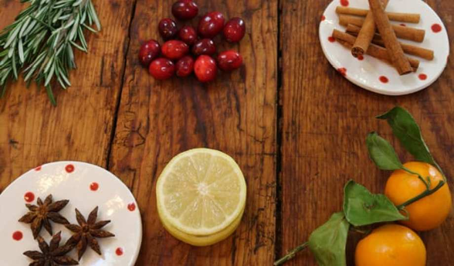 potpourri ingredients on table