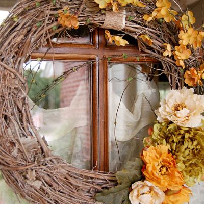 Asymmetrical Fall Wreath