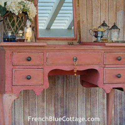 Milk Paint Vanity: before and after