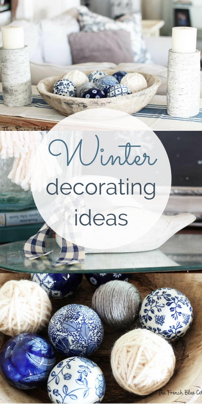 Winter decorating ideas with color and texture.