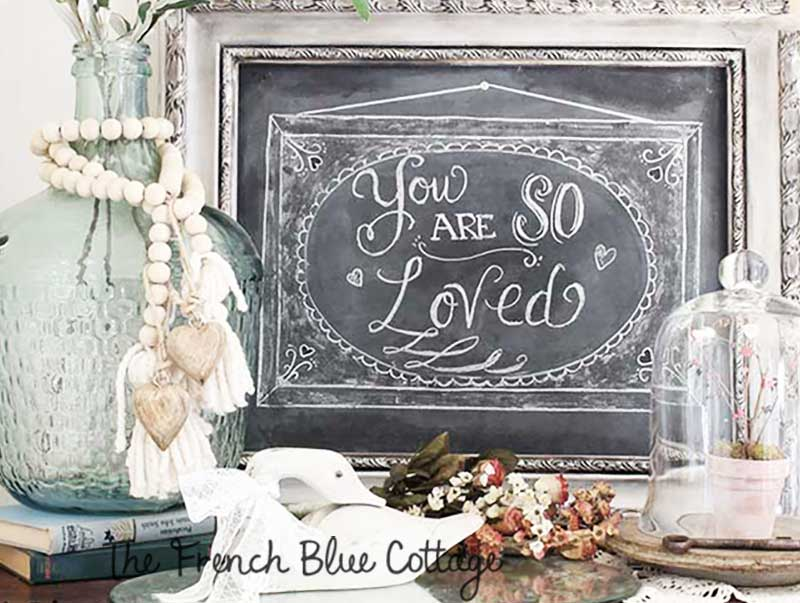 so loved chalkboard vignette