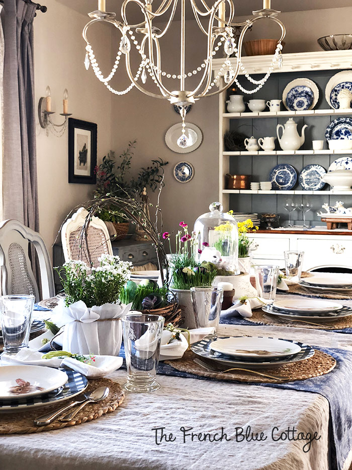 Easter in my French country dining room.