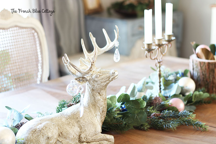 Woodland glam Christmas deer with crystals.
