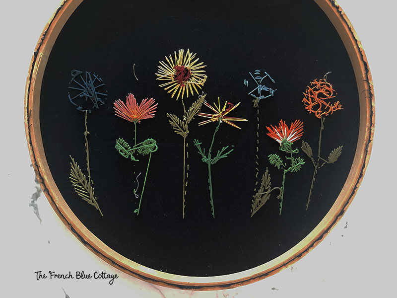 back of embroidery