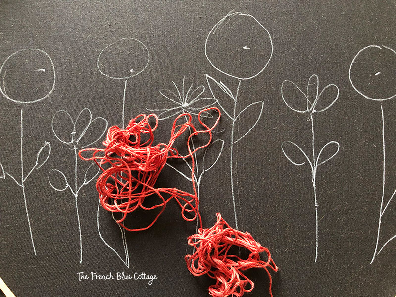 tangled embroidery thread