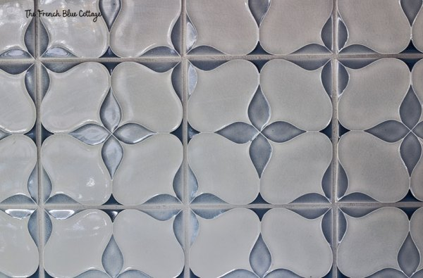 hand painted crackle tile backsplash
