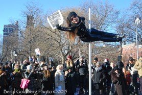 """Dancer Carolyn Chui is Charlie. . . """"Only in New York,"""" commented Lamia, a French/Algerian New Yorker"""