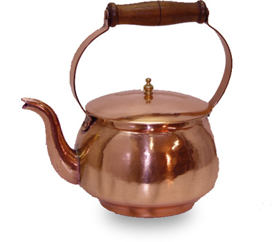 2.3 Quart Tea coffee Pot with Brass poring spout