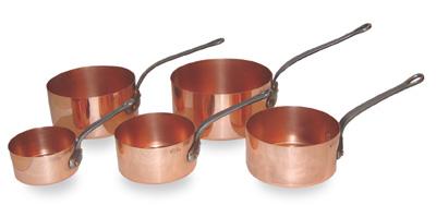 Copper Sauce Pans Set