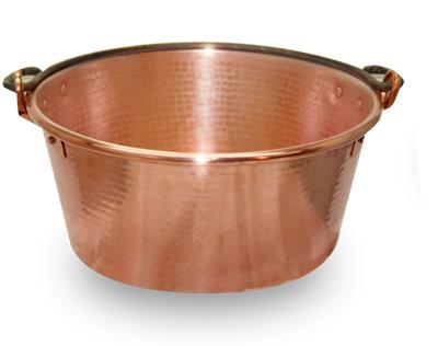 Single Handled Copper Jam Pot