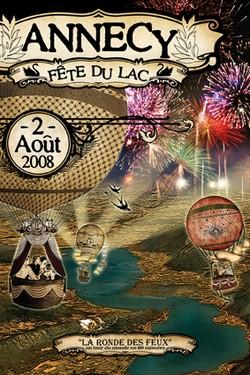 fete du lac 2008 annecy poster