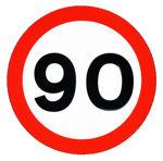90 kph sign