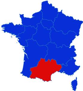 Occitanie map