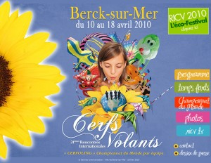 Poster for Berck Kite Festival 2010