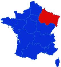 Grand Est map