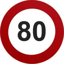 80 kph limit