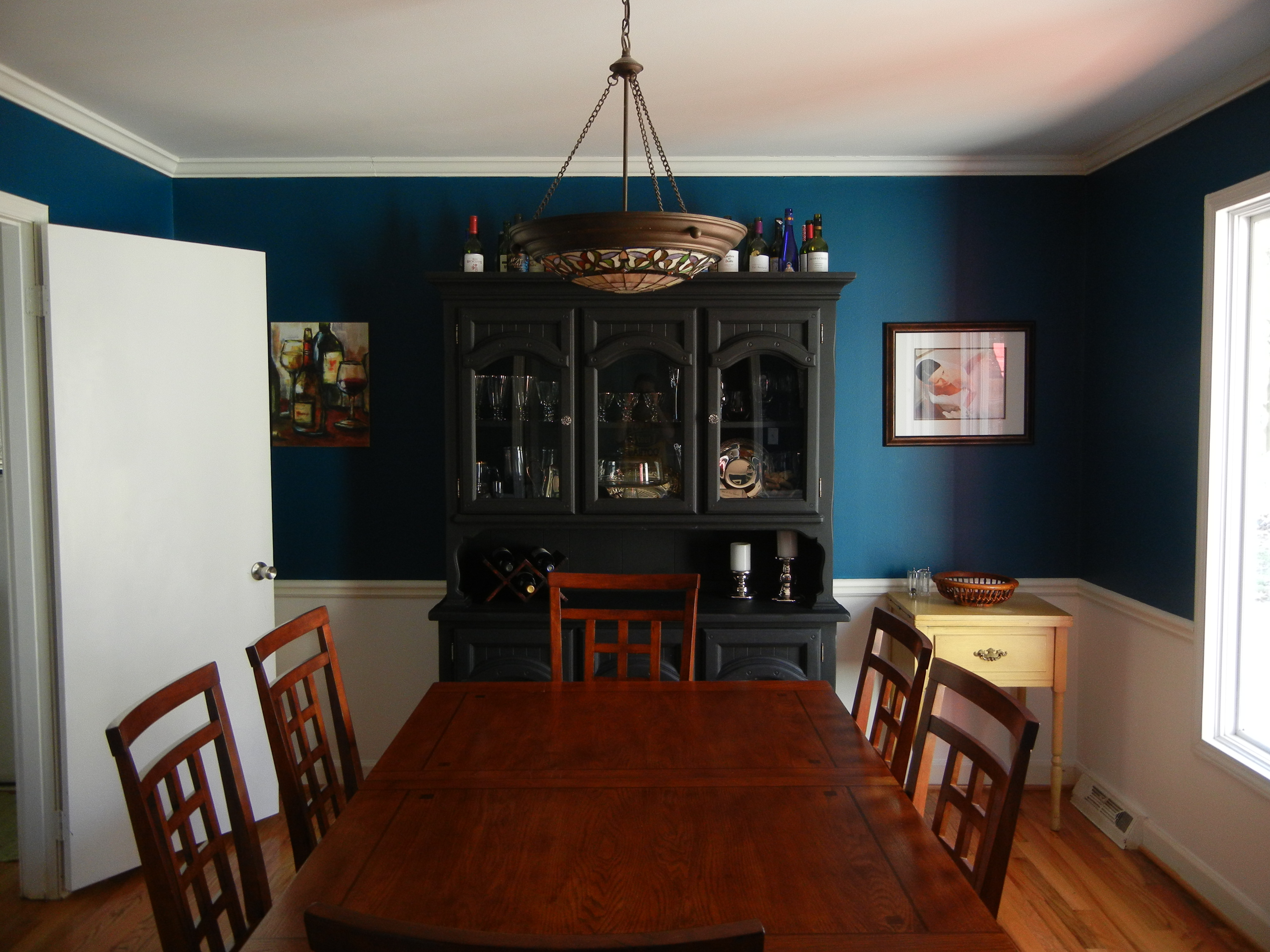 Teal Trance: My New Dining Room