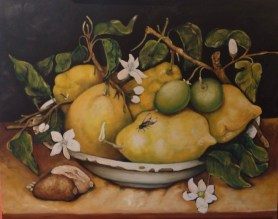 Still Life with Bowl of Citrons, Giovanna Garzoni,1640, J Paul Getty Museum,