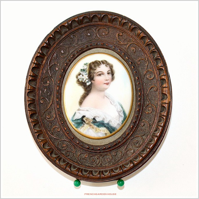AntiquePorcelainPortraitFrenchGardenHouse