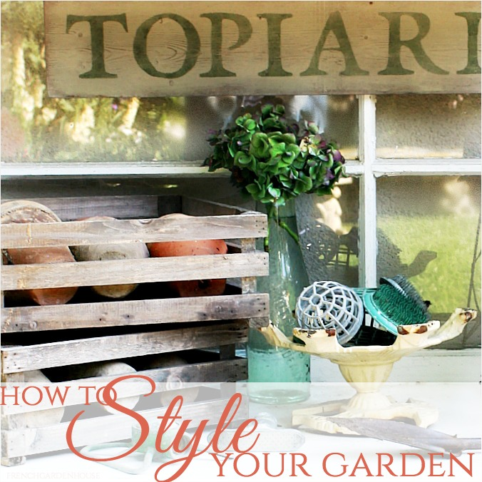 How to Style Your Garden with Antiques