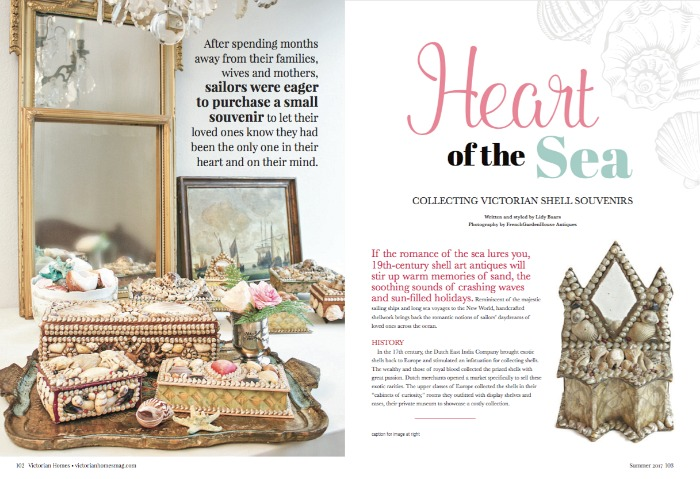 FRENCHGARDENHOUSE Article Shell Art Victorian Homes Magazine