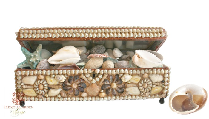 Victorian Shellwork French Box