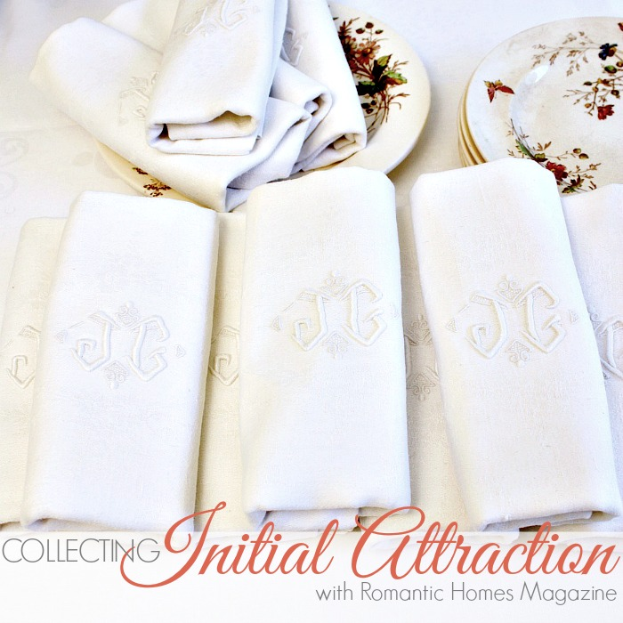 COLLECTING| Initial Attraction with Romantic Homes Magazine