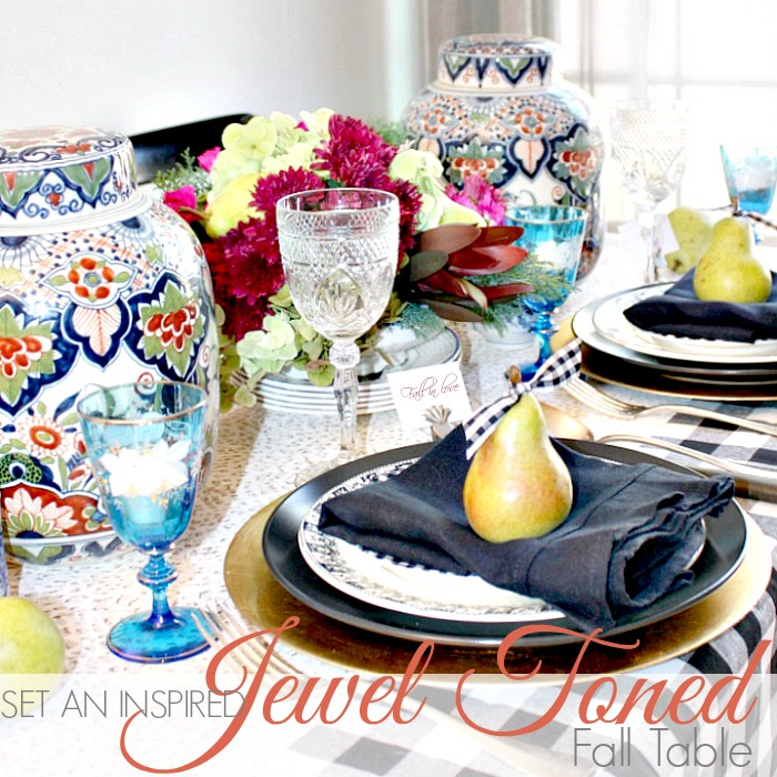 SET AN INSPIRED JEWEL TONED FALL TABLE