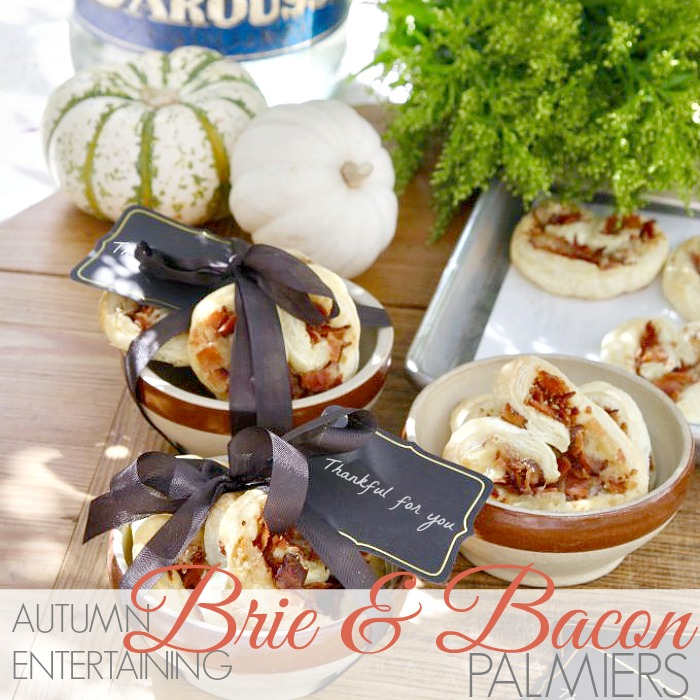 AUTUMN ENTERTAINING | BRIE & BACON PALMIERS